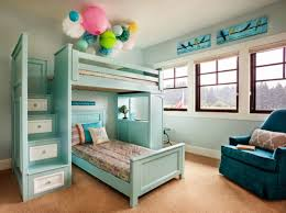 Kids Bedroom Furniture Designs Bedroom Wooden Bunk Beds With Stairs Plus Drawers And Blue Wall