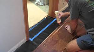 Floating Laminate Floor Over Carpet Laminate And Door Jambs Youtube