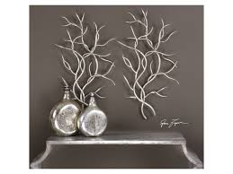 uttermost alternative wall decor silver branches set of 2 uttermost alternative wall decor silver branches set of 2