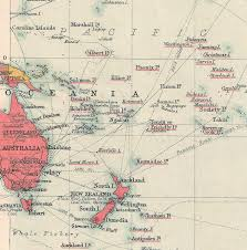 pacific ocean colonial 1910s world map british empire old maps