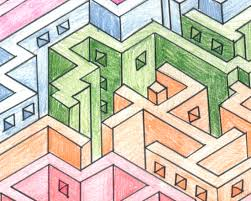 6 2perspective using boxes to construct 3 d mazes this is some