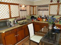 Ugly Kitchen Cabinets Wallpapered Kitchen Cabinets U2013 Ugly House Photos