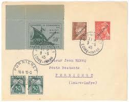 chambre de commerce de nazaire ilot de st nazaire 1945 sur lettre timbre chambre de commerce de