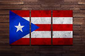 Puertorican Flag 15 Puerto Rican Wall Art Puerto Rico Flag Wall Art Poster