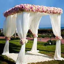 4 post height adjustable canopy chuppah mandap wedding photo