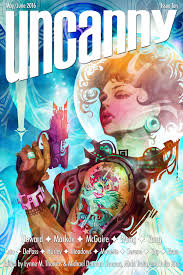 uncanny uncanny magazine issue 10 cover and table of contents uncanny