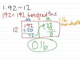 Division With Decimals Worksheets Showme Area Model And Dividing Decimals