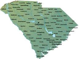 Map Of South Carolina Counties View Full Sized Map Map Of South Carolina Map Cities And Towns