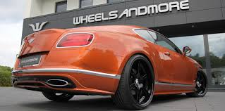 bentley orange tuning of bentley continental with wheels and exhaust wheelsandmore