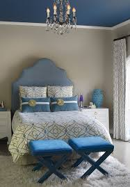 Contemporary Blue Bedroom - 15 gorgeous blue and gold bedroom designs fit for royalty home