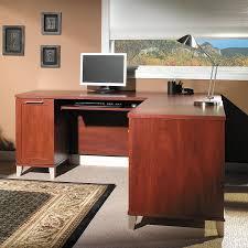 amazon com somerset 71w l shaped desk in hansen cherry kitchen