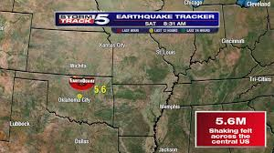 Earthquake Map Usgs Major M5 6 Earthquake Hits Oklahoma Felt From North Dakota All