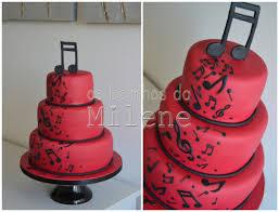 Red And Black Wedding Red And Black Wedding Cake Music Cake By Milene Habib Cakesdecor