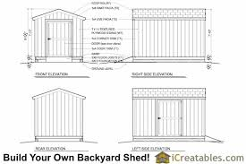 Free Wooden Shed Plans by Woodwork Free 8 X 12 Gambrel Shed Plans Plans Pdf Download Free
