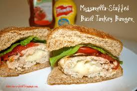 stuffed turkeys mozzarella stuffed basil turkey burgers happy healthy