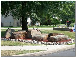 landscaping with rocks around trees design and ideas