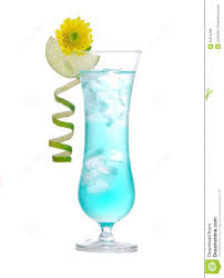 blue hawaiian cocktail new summer margarita cocktail drink or blue hawaiian royalty free