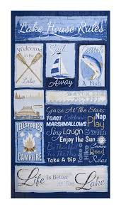 Fish Home Decor Accents Timeless Treasures Lake Rules 23 5