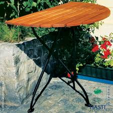 Outdoor Round Table Rebecca Folding Half Round Table By Haste Garden