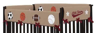 all star sports baby boy crib bedding 9pc nursery set red brown blue