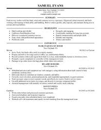 Resume Experience Order Amazing Inspiration Ideas Fast Food Resume Skills 3 Best Server
