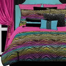 Purple And Zebra Room by Shop Rainbow Zebra 4 Piece Rainbow Queen Comforter Set At Lowes Com
