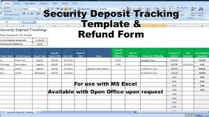 Vacation Tracking Spreadsheet Rental Deposit Tracking Form Landlord Tenant Security Deposit