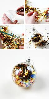 diy sparkle filled baubles gathering