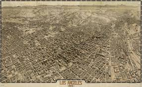 Map Of Los Angeles County by Gates U0027 Birdseye View Of Los Angeles 1909
