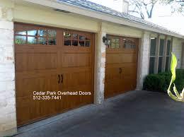 Shed Overhead Door by Carriage Style Garage Doors Cedar Park Overhead Doors