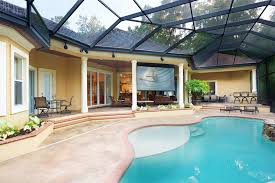 Backyard Projector Screen by Smart Holmes Installs A Dual Sided Motorized Projection Screen
