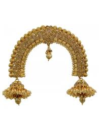 traditional indian bridal gold tone bun pin ambada wedding