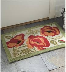 Machine Washable Rugs Poppies Floral Hooked Machine Washable Rug Machine Washable Rugs
