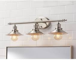 industrial bathroom vanity lighting industrial bathroom vanity lighting contemporary 3 light brushed