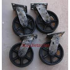 Caster Wheels For Bed Frames 6 Cast Iron Caster Wheels Vintage Industrial Furniture
