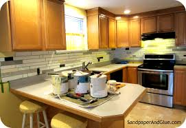 Tiles For Backsplash In Kitchen Diy Faux Tile Backsplash Stephanie Marchetti Sandpaper U0026 Glue