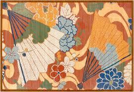 Bamboo Area Rugs Artfully Asian Fan Print Bamboo Rug