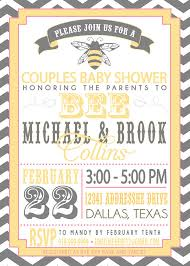 couples baby shower on sale couples baby shower invitation parents to bee