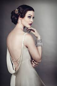great gatsby womens hair styles the great gatsby inspired 30s scooped back cream gown paz