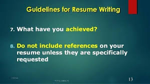 not to include in resume do you include references on a resume how do you write