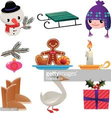 set of winter stuff vector getty images