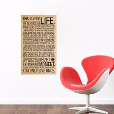 nostalgic english kraft paper poster wall stickers for living room