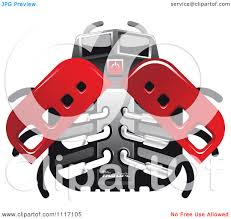 vector clipart racing ladybug robot 1 royalty free graphic