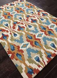 Red Tribal Rug Jaipur Rugs Rug100883 Hand Tufted Tribal Pattern Polyester Blue