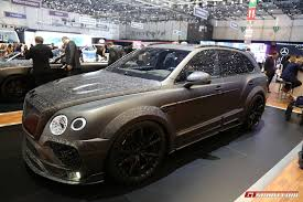 bentley black 2017 geneva 2017 mansory bentley bentayga black edition gtspirit