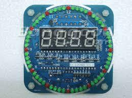 bricolage rotation de led at89s52 kit horloge à lectronique 51 scm