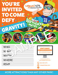 download party invitations urban air indoor trampoline park
