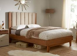 solid wood bed frame full med art home design posters