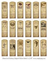 fantasy magic potion labels digital collage sheet 18 labels for