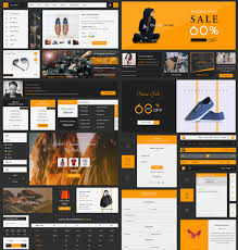 cool ecommerce ui kit free psd template download ecommerce ui kit